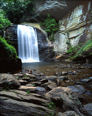 Photograph - Looking Glass Falls by Ray Mathis
