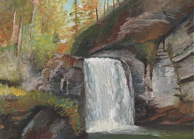 Looking Glass Falls Art Print by William Killen
