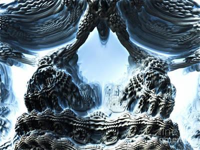 Creepy Digital Art - Looking Glass by Melissa Herrin