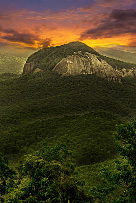 Looking Glass Rock North Carolina  Art Print