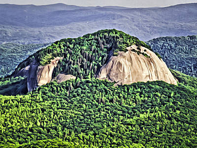 Digital Art - Looking Glass Rock by Patrick M Lynch