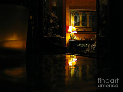 Glass Table Reflection Photograph - Looking In... by Alina Davis