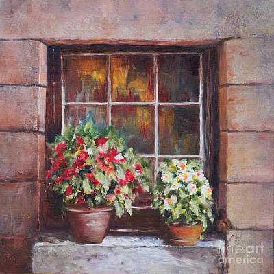 Painting - Looking Into St. Cirq Lapopie by Diane Fujimoto
