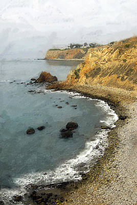 So Cal Digital Art - Looking North To The Lighthouse by Ron Regalado