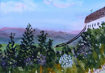 Painting - Looking Out From The Top Of Jay Peak by Donna Walsh