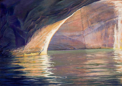 Looking Out Lake Powell Art Print