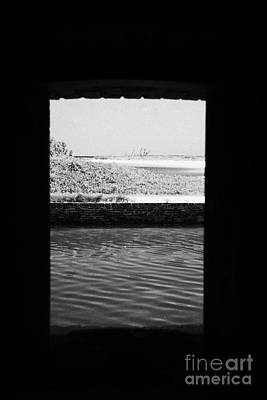 Looking Out Of Embrassure Wall Port In Fort Jefferson Dry Tortugas National Park Florida Keys Usa Art Print