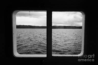 Navarino Photograph - looking out of ships windows at the Beagle Channel and Isla Navarino Tierra Del Fuego Chile by Joe Fox