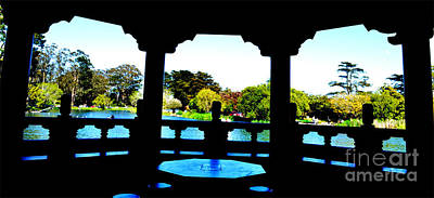 Photograph - Looking Out Of The Stow Lake Pagoda In Golden Gate Park In San Francisco  by Jim Fitzpatrick