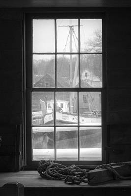 Photograph - Looking Out The Oyster Shack - Maritime Memories by Gary Heller
