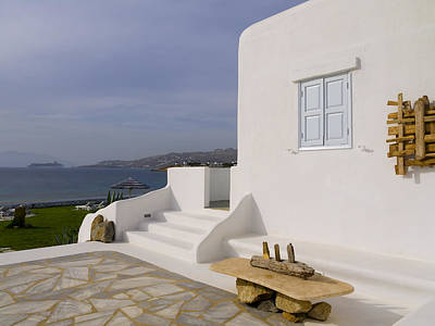 Looking Out To Sea In Mykonos Art Print