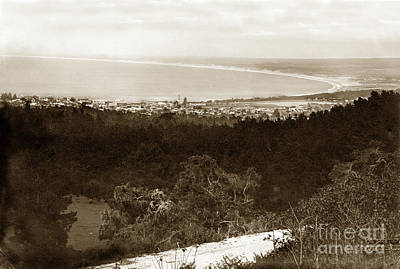 Photograph - Looking Over Monterey To Monterey Bay Circa 1910 by California Views Mr Pat Hathaway Archives