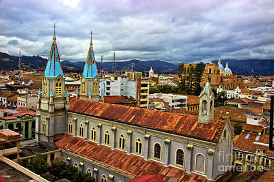 Immaculate Photograph - Looking Over San Alfonso - Cuenca - Ecuador by Al Bourassa