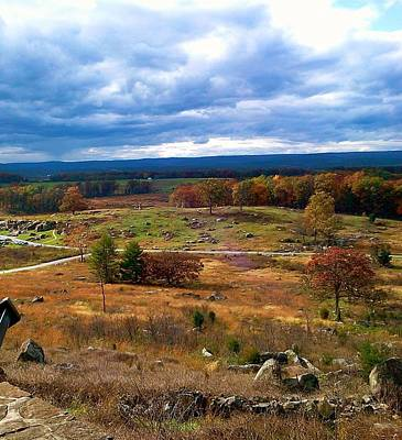 Battlefield Photograph - Looking Over The Gettysburg Battlefield by Amazing Photographs AKA Christian Wilson