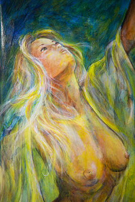 Painting - Looking Skywards - Eve by Nik Helbig