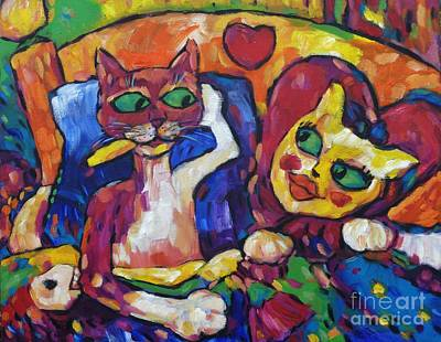 Painting - Looking Swell Cats by Dianne  Connolly