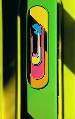 Looking Through Colorful Ovals Art Print