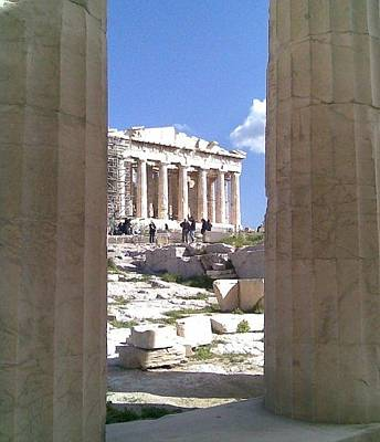 Photograph - Looking Through The Ancient Ruins by Katerina Kostaki