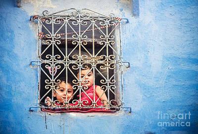 Sabino Photograph - Looking Through The Blue Window by Sabino Parente