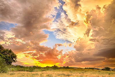 Bo Insogna Photograph - Looking Through The Colorful Sunset To Blue by James BO  Insogna