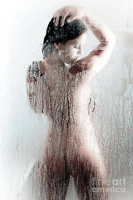 Washing Hair Photograph - Looking Through The Glass 4 by Jt PhotoDesign
