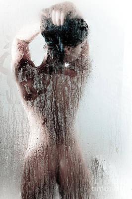 Shower Photograph - Looking Through The Glass by Jt PhotoDesign