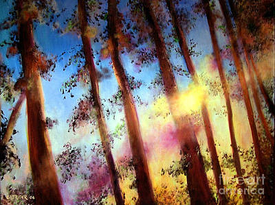 Painting - Looking Through The Trees by Alison Caltrider