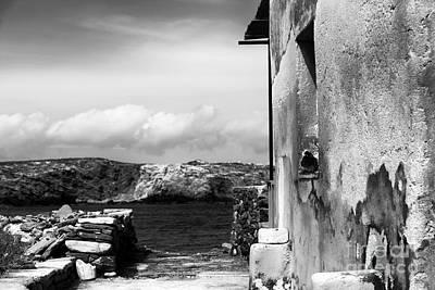 Looking To The Aegean Sea Art Print by John Rizzuto