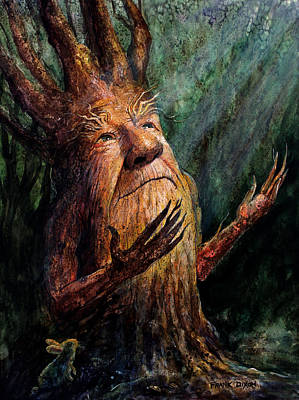 Tree Creature Painting - Looking To The Light by Frank Robert Dixon
