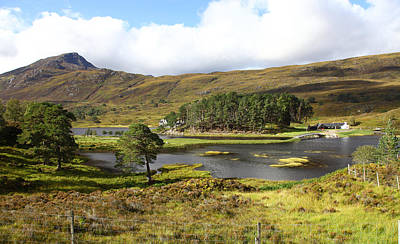 Nirvana - Looking towards Affric Lodge in Loch Affric Scotland by John Keates