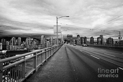 looking towards vancouver downtown from granville street bridge over false creek Vancouver BC Canada Print by Joe Fox