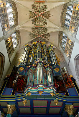 Photograph - Looking Up At Breda Grote Kerk Organ by Jenny Setchell
