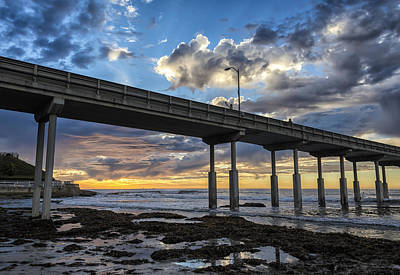 Looking Up At The Ob Pier Art Print by Joseph S Giacalone