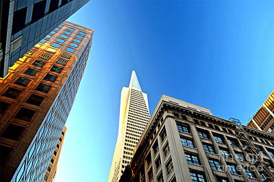 Photograph - Looking Up At The Transamerica Pyramid Altered by Jim Fitzpatrick
