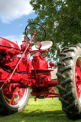 Farmall Photograph - Looking Up Farmall by Heather Allen