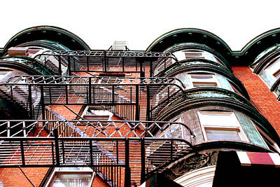 Photograph - Looking Up In Boston by Charlie and Norma Brock