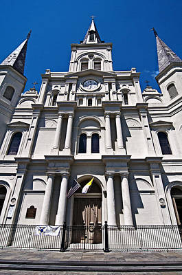 Photograph - Looking Up St Louis Cathedral by Andy Crawford