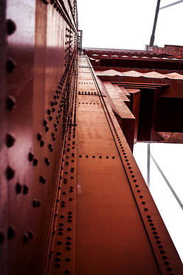 Looking Up The Golden Gate Bridge Art Print by SFPhotoStore