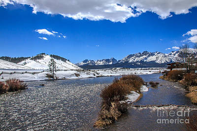 Looking Up The Salmon River Art Print by Robert Bales