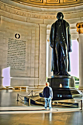 Digital Art - Looking Up To Jefferson by Patrick M Lynch