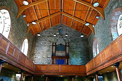 Photograph - Looking Upward In Drumcliff Church by Charlie and Norma Brock
