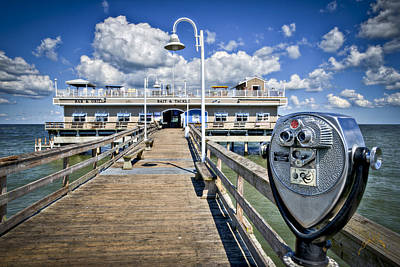 Photograph - Lookout At Oceanview Fishing Pier - Color by Williams-Cairns Photography LLC