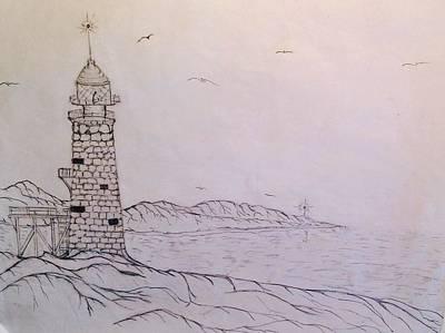 Stillness Drawing - Lookout by Joseph Lindsay