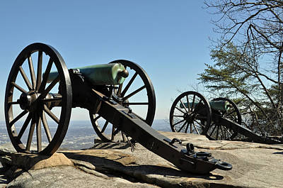Lookout Mountain Civil War Cannon Art Print by Bruce Gourley