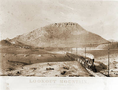 Lookout Mountain Drawing - Lookout Mountain, Near Chattanooga by Litz Collection