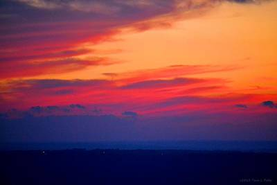 Lookout Mountain Sunset Art Print