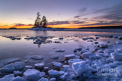 Maine Landscape Photograph - Lookout Point Ice by Benjamin Williamson