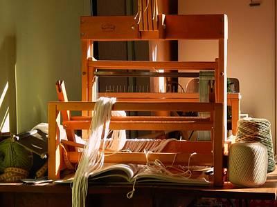 Loom In Winter Light Art Print by Aliceann Carlton