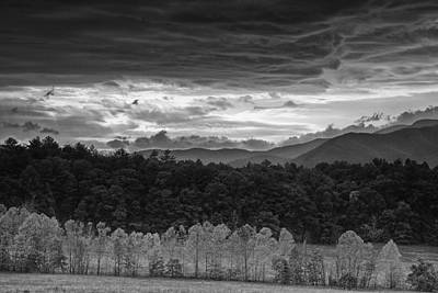 Fog Photograph - Looming Storm Over Cades Cove by Andrew Soundarajan