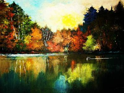Painting - Autumn In Loon Country Ll by Al Brown